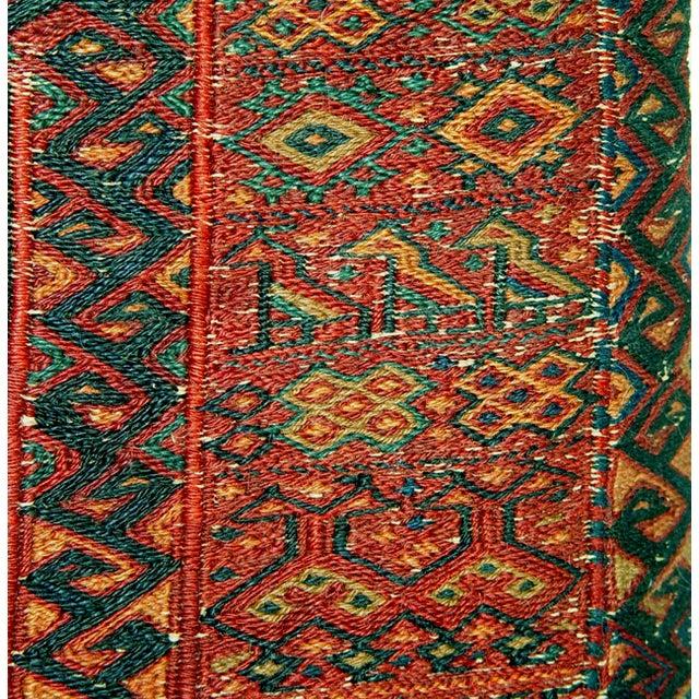 Old Persian Bakhtiari Soumak Khorjin Saddle Bag - Image 8 of 10