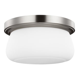 Claudia Two Light Flush Mount, Silver For Sale