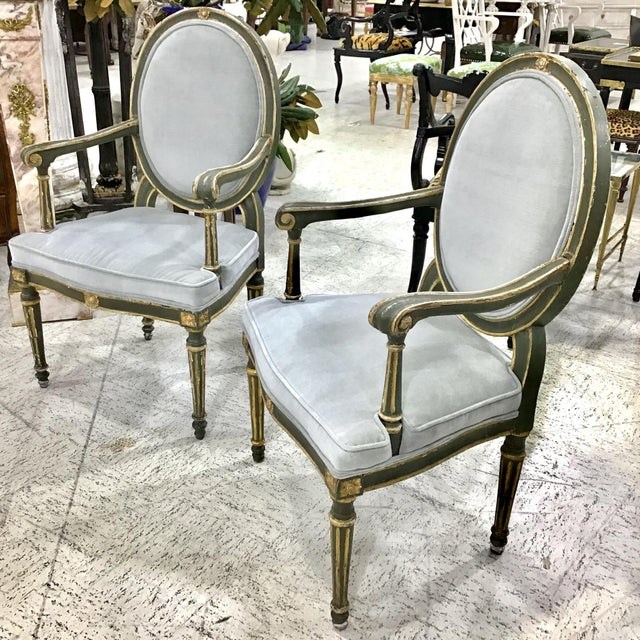 Pair of 18th Century Italian Neoclassic Armchairs For Sale In Tampa - Image 6 of 13