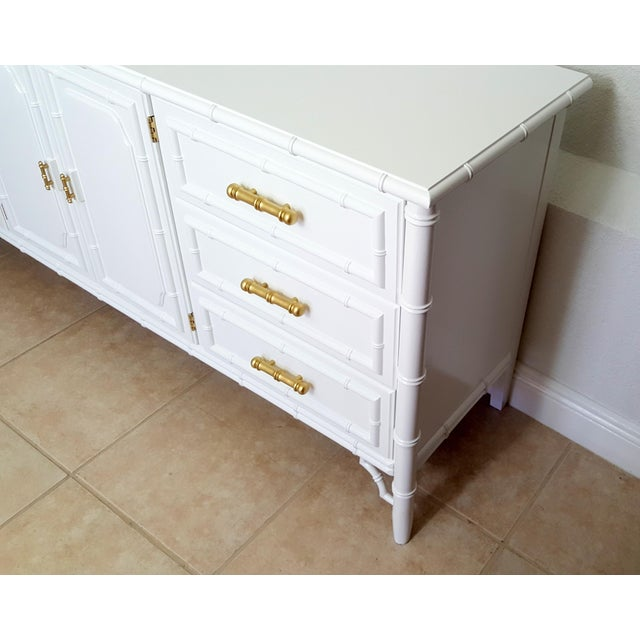 Faux Bamboo Dixie Aloha Faux Bamboo 9 Drawer Dresser For Sale - Image 7 of 10