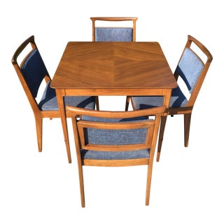 1960s Mid-Century Modern John Stuart for Mount Airy Furniture Airy Janus Collection Card Table