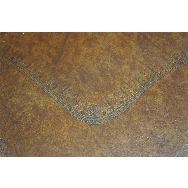 Vintage Theodore Alexander 3 Tier Leather Turtle Top & Nailhead Accent Side Tables - a Pair For Sale - Image 9 of 11