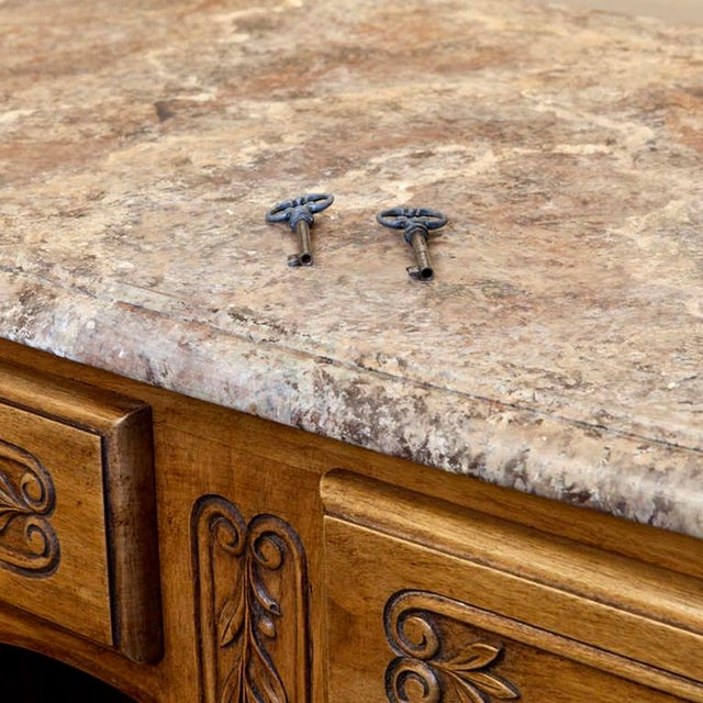 19th Century French Faux Painted Top Enfilade or Buffet - Image 6 of 7