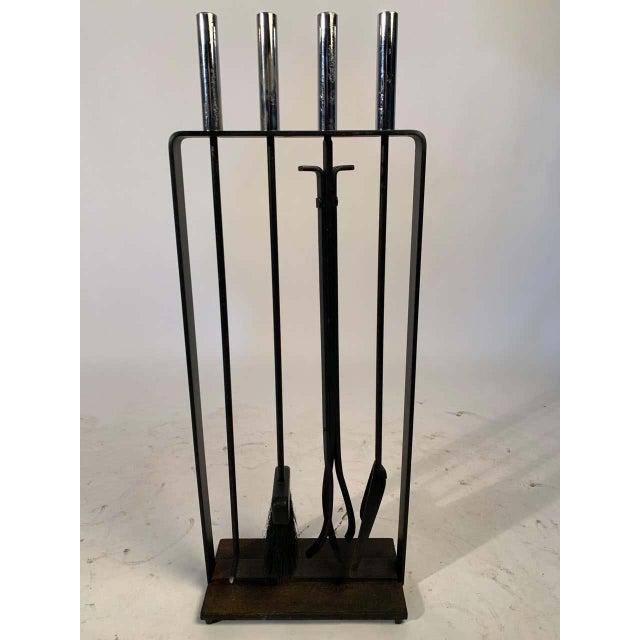 Metal Modernist 1950s Pilgrim Fireplace Tool Set For Sale - Image 7 of 9