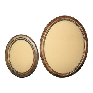 Wooden Oval Picture Frames - A Pair For Sale