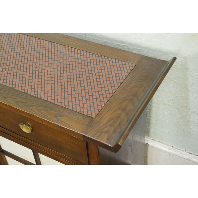 Wood Bernhardt Flair Division Asian Inspired Console Server Cabinet For Sale - Image 7 of 13