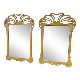 Pair of Nouveau Style Mirrors For Sale