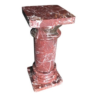 Red Marble Pedestal