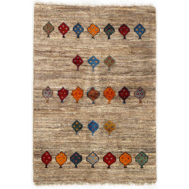 "Pasargad NY Persian Gabbeh Rug - 2′6″ × 3′9"" For Sale - Image 4 of 4"