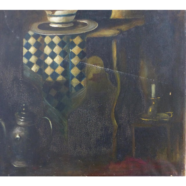 Early 20th Century Dutch Style Still-Life Oil Painting on Linen For Sale - Image 5 of 10
