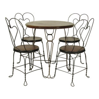 Vintage Ice Cream Table & 4 Chairs