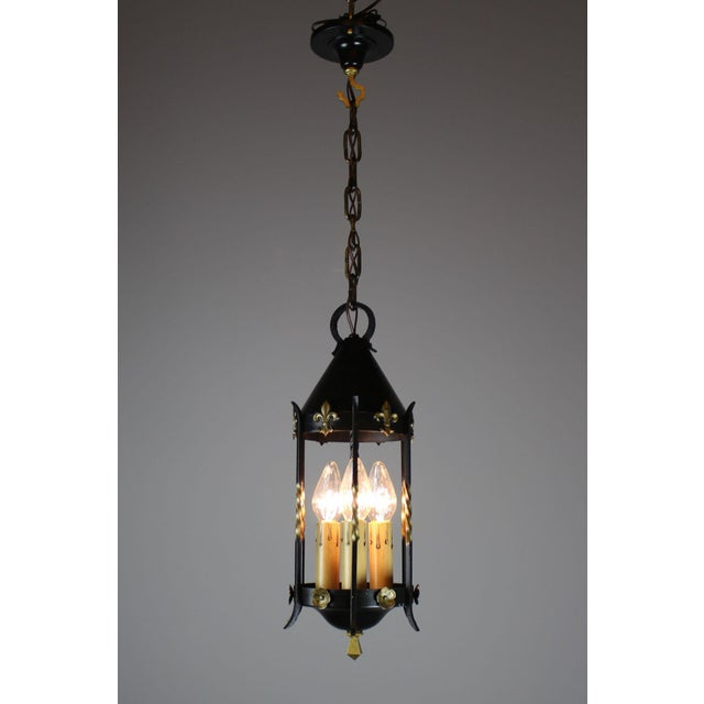Mediterranean Spanish Colonial Lantern by Moe Bridges Co. For Sale - Image 3 of 7