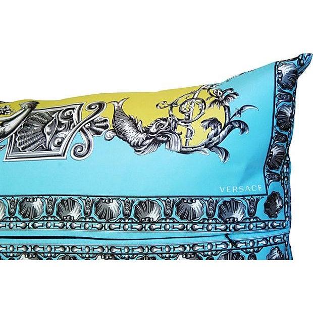 Large Designer Italian Versace Silk Scarf Pillow - Image 5 of 8