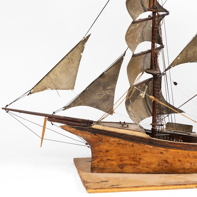 Late 19th Century Handmade Wooden Ship Model From France For Sale In Los Angeles - Image 6 of 11