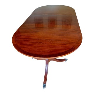 1960s English Traditional Mahogany Dining Table For Sale
