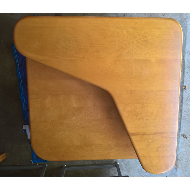 Heywood Wakefield 2-Tier Corner Table W/Boomerang Top Shelf For Sale In Los Angeles - Image 6 of 10