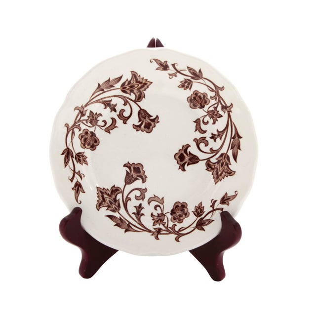 English Royal Staffordshire J & G Meakin Wondsong Brown Transferware Plate For Sale In Los Angeles - Image 6 of 6