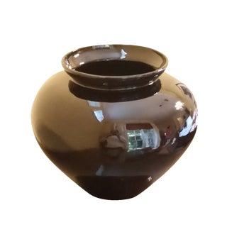 Large Black Porcelain Vase