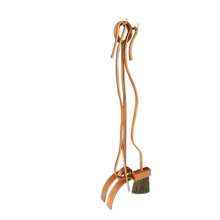Jacques Maison Charles Copper-Tone Fireplace Tools Set For Sale