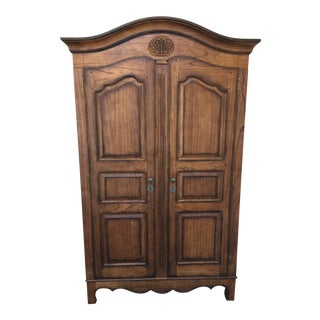 French Country Heckman Entertainment Armoire For Sale