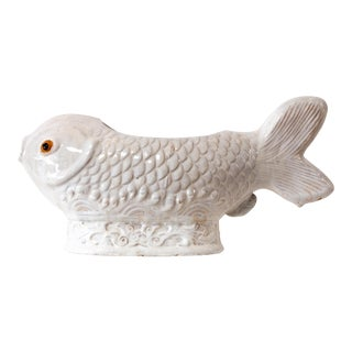 ivory Decorative Ceramic Fish Vessel For Sale