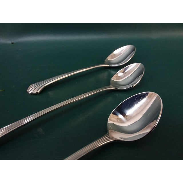 Wallace Silversmiths Vintage Wallace 'Tiara' Flatware, Service for 12 For Sale - Image 4 of 13