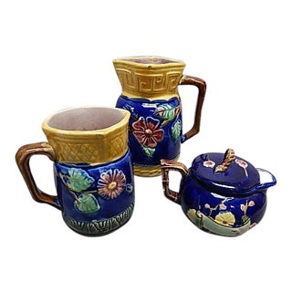 Majolica Teapot Service - Set of 3