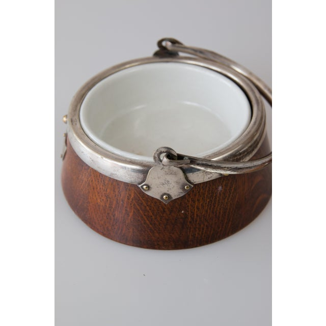 Early English Oak Jam Jar Mustard Pot Pate For Sale - Image 4 of 6