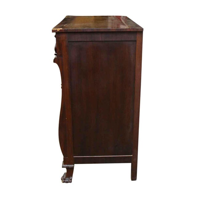 Antique Maple Claw Foot Dresser - Image 10 of 10 - Antique Maple Claw Foot Dresser Chairish
