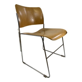 Mid Century Modern David Rowland 40/4 Bent Plywood Stacking Chair For Sale
