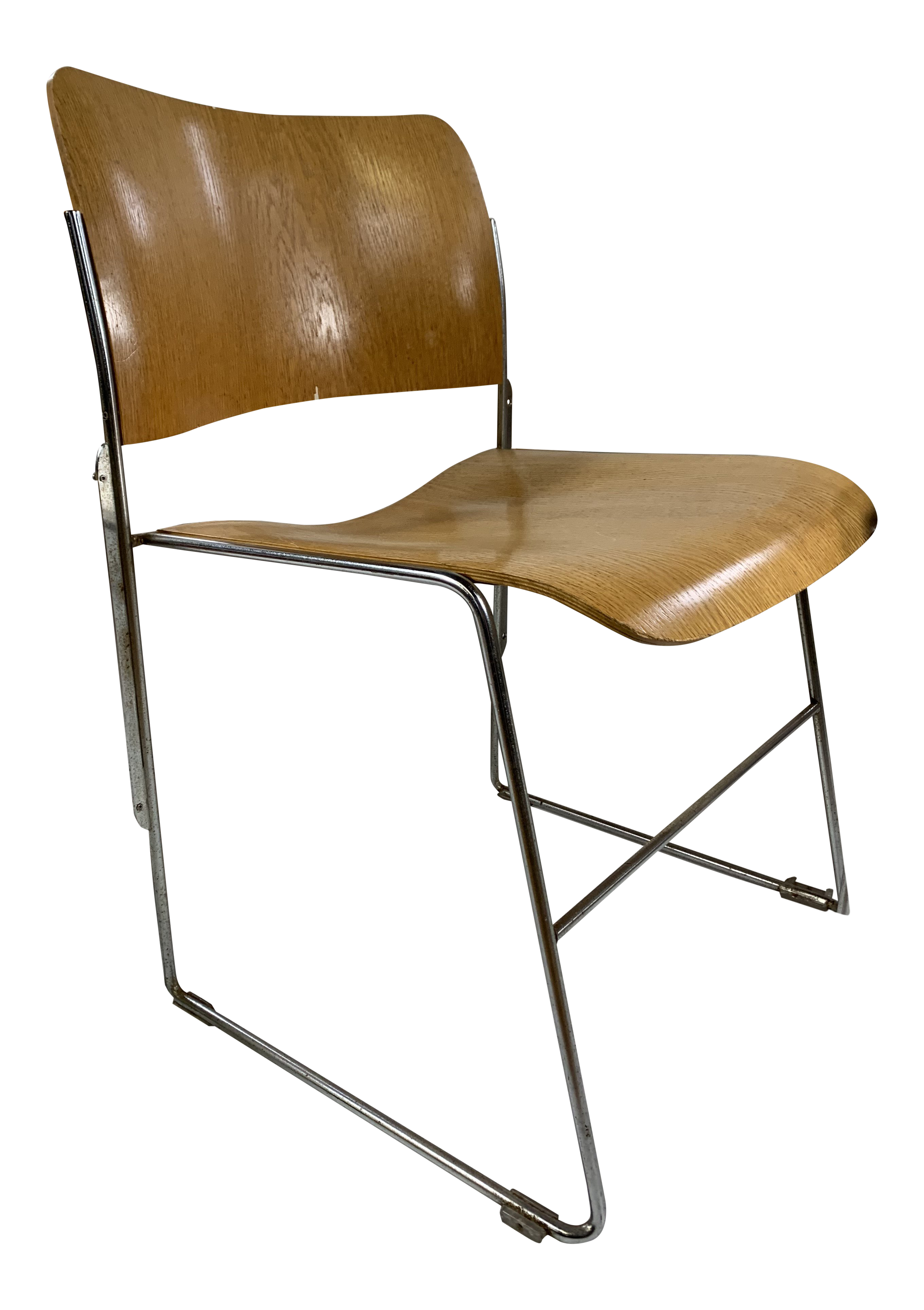 Mid Century Modern David Rowland 40/4 Bent Plywood Stacking Chair For Sale  sc 1 st  Chairish & Mid Century Modern David Rowland 40/4 Bent Plywood Stacking Chair ...