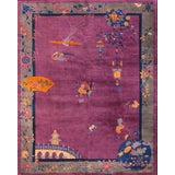 Image of 1920s Antique Chinese Art Deco Rug-9′2″ × 11′8″ For Sale