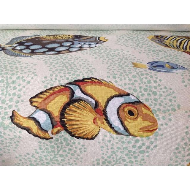 "Grey Watkins ""Barbuda"" Fish Linen Textile - 4 1/3 Yds. For Sale - Image 10 of 12"
