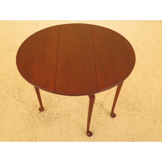 Eldred Wheeler Cherry Queen Anne Drop Leaf Occasional Table - Image 6 of 13