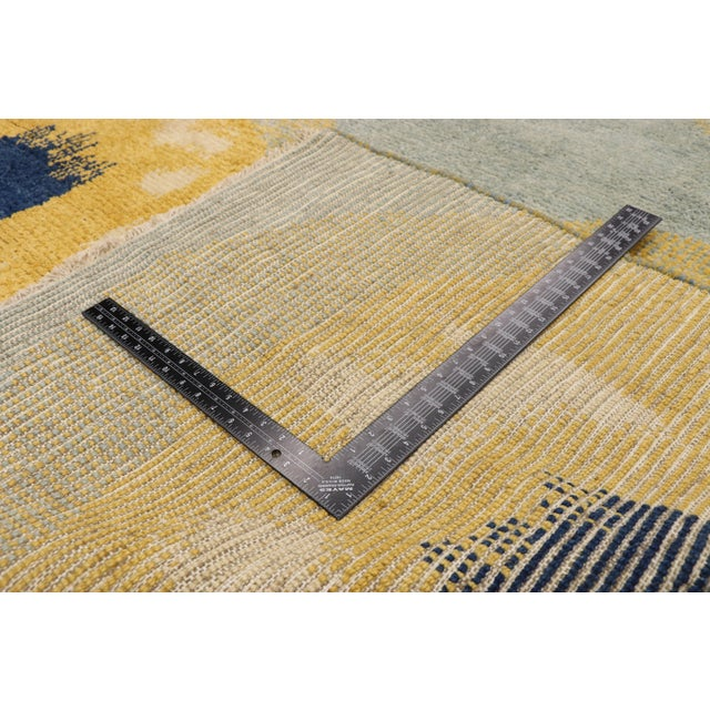 2010s Contemporary Moroccan Rug With Concentric Circles - 10'02 X 13'09 For Sale - Image 5 of 10