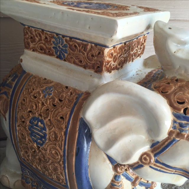 Chinoiserie Ceramic Elephant Garden Stool - Image 7 of 7