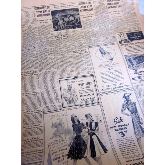 48 Laminated Newspapers from 1940s - Image 7 of 7