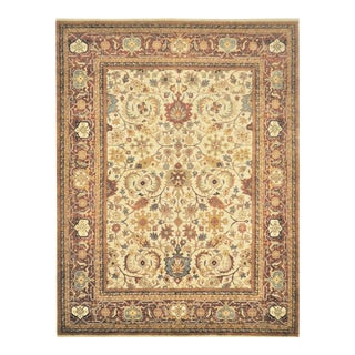 Persian Heriz Serapi Hand Knotted Area Rug - 7′9″ × 10′ For Sale