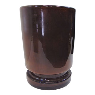 Late 20th Century Modern Art Glass Trash Can For Sale