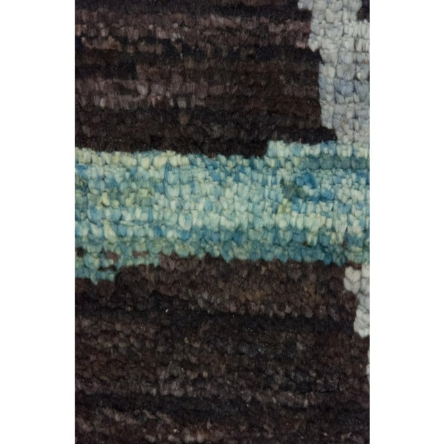 """Contemporary Moroccan Hand-Knotted Rug - 7' 9"""" x 9' 8"""" - Image 3 of 3"""