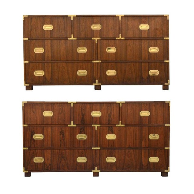 Walnut Baker Chests of Drawers - a Pair For Sale - Image 12 of 12