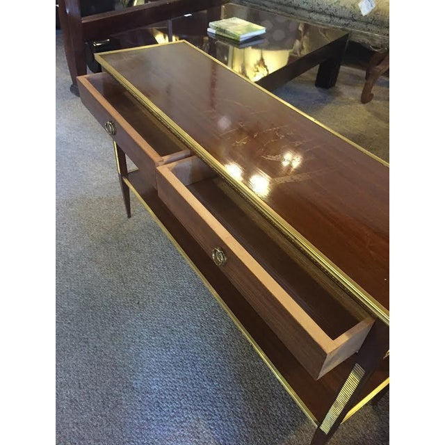 Two Drawer Bronze Mounted Console Tables - Pair - Image 6 of 8