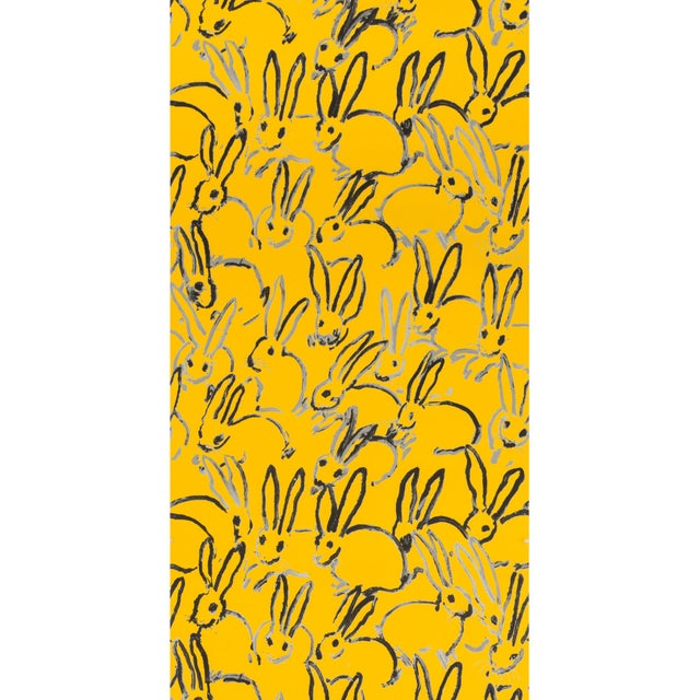 Contemporary Hunt Slonem for Lee Jofa, Hutch Wallpaper Roll, Yellow, 10 Yards For Sale - Image 3 of 3