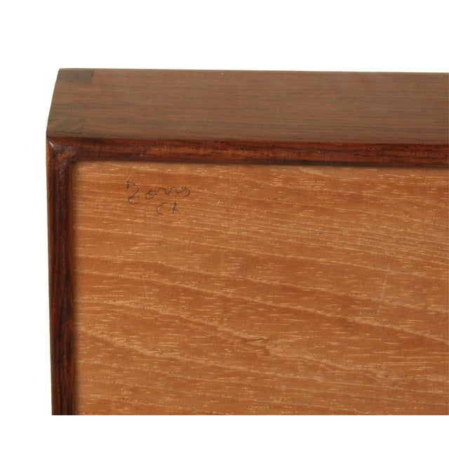 Square Rosewood Jewelry Box For Sale - Image 4 of 4