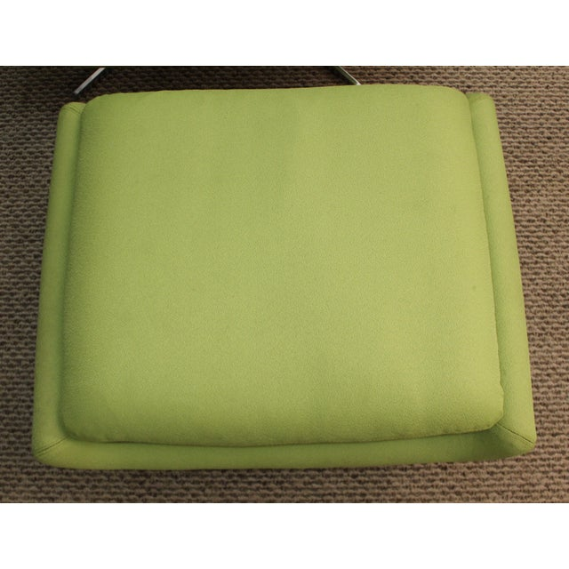 Mid-Century Lime Green Swivel Lounge Chair & Ottoman - Image 8 of 11