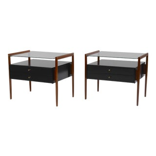 Pair of Drexel Parallel Group Nightstands For Sale