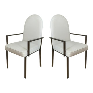 Mid-Century Metal Armchairs - A Pair For Sale