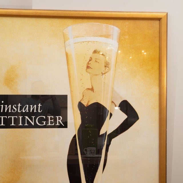 A fabulous oversized French poster advertising Tattinger Champange. Printed in France, this advertisement was produced...