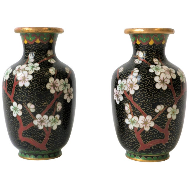 Black White and Ox Blood Cloisonne and Brass Vases For Sale - Image 13 of 13