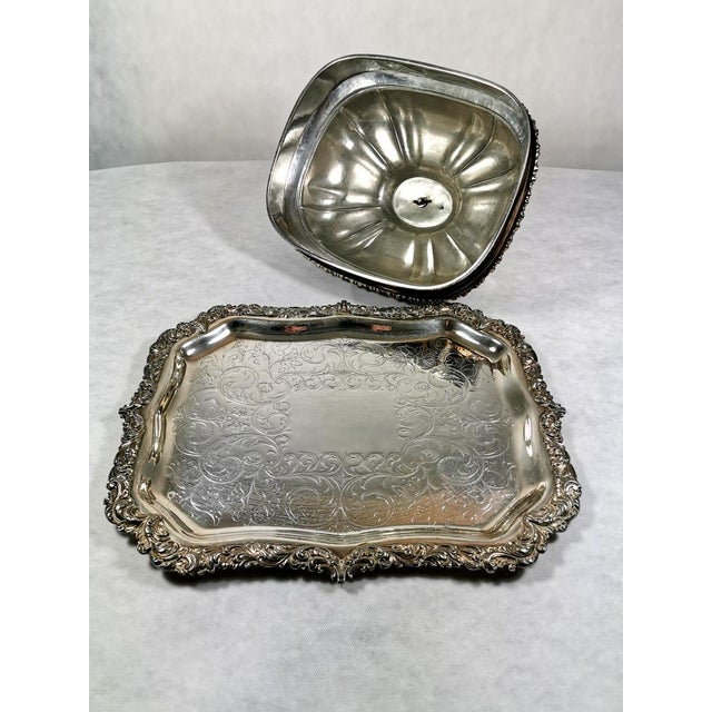 English Old Sheffield Plate Dome Shaped Dish Cover With Tray William IV 1835 - 2 Pieces For Sale - Image 3 of 12